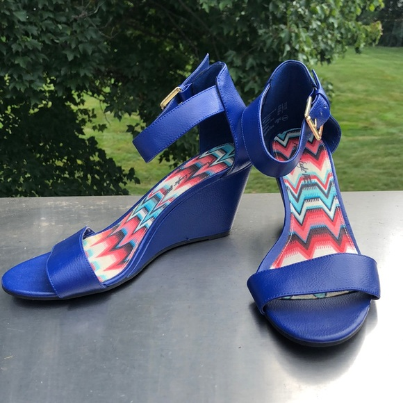 American Eagle Outfitters Shoes - 🌸Sale 4/$20🌸American Eagle | Women's Blue Wedges